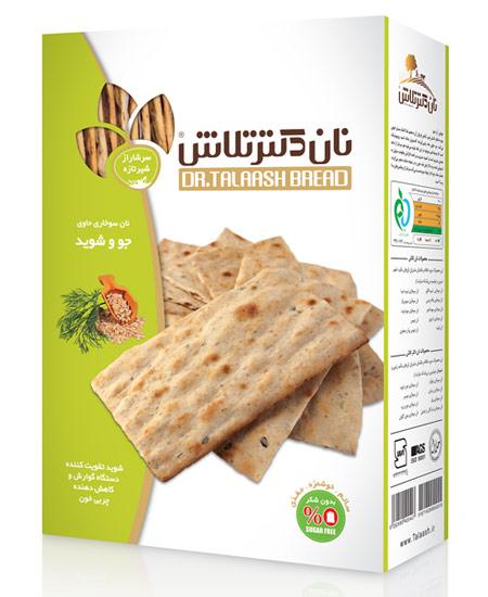 نان سوخاری حاوی جو و شوید دکتر تلاش  وزن ۴۰۰ گرم