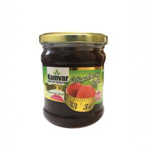 مربای توت فرنگی بدون شکر و رژیمی