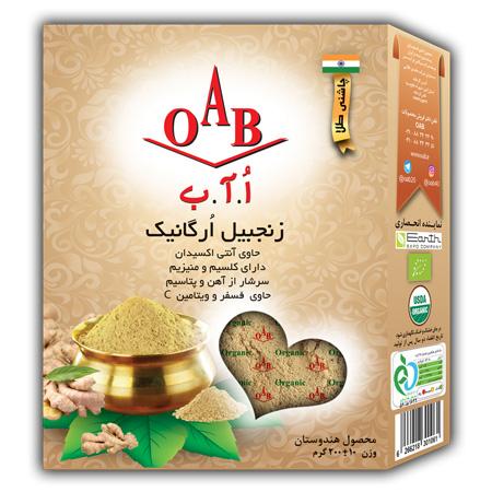 زنجبیل ارگانیک ۱۰۰% خالص و طبیعی OAB  وزن ۲۰۰ گرم