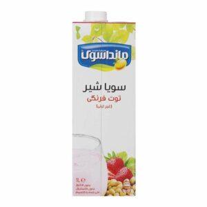 شیرسویا توت فرنگی مانداسوی – ۱ لیتر