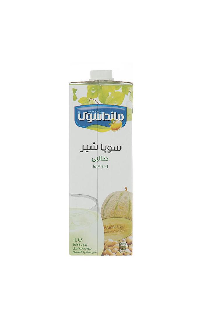 شیرسویا طالبی مانداسوی مقدار ۱ لیتر