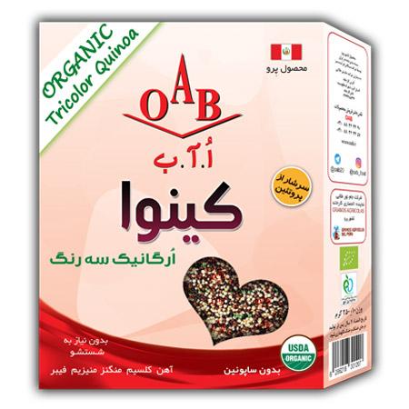 کینوا ارگانیک سه رنگ  OAB  وزن ۲۵۰ گرم