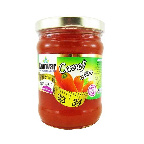 مربای هویج رژیمی بدون قند کامور وزن ۲۸۰ گرم