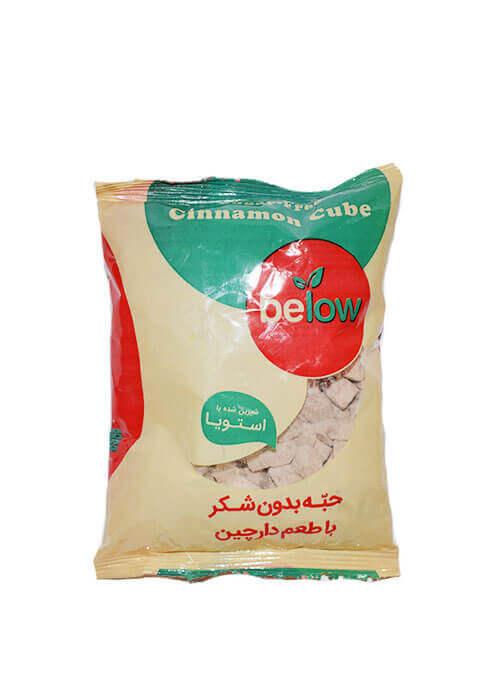 حبه بدون شکر با طعم دارچین بی لو below  وزن ۲۴۰ گرم