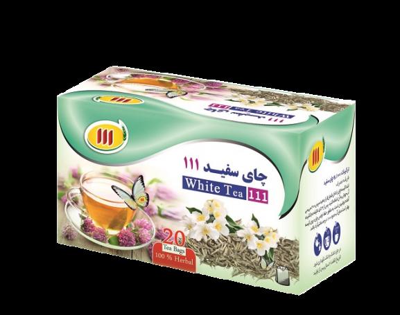 چای سفید کیسه ای ۱۱۱ – ۲۰ عددی