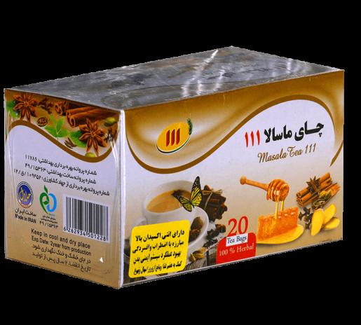 چای ماسالا کیسه ای ۱۱۱ – ۲۰ عددی