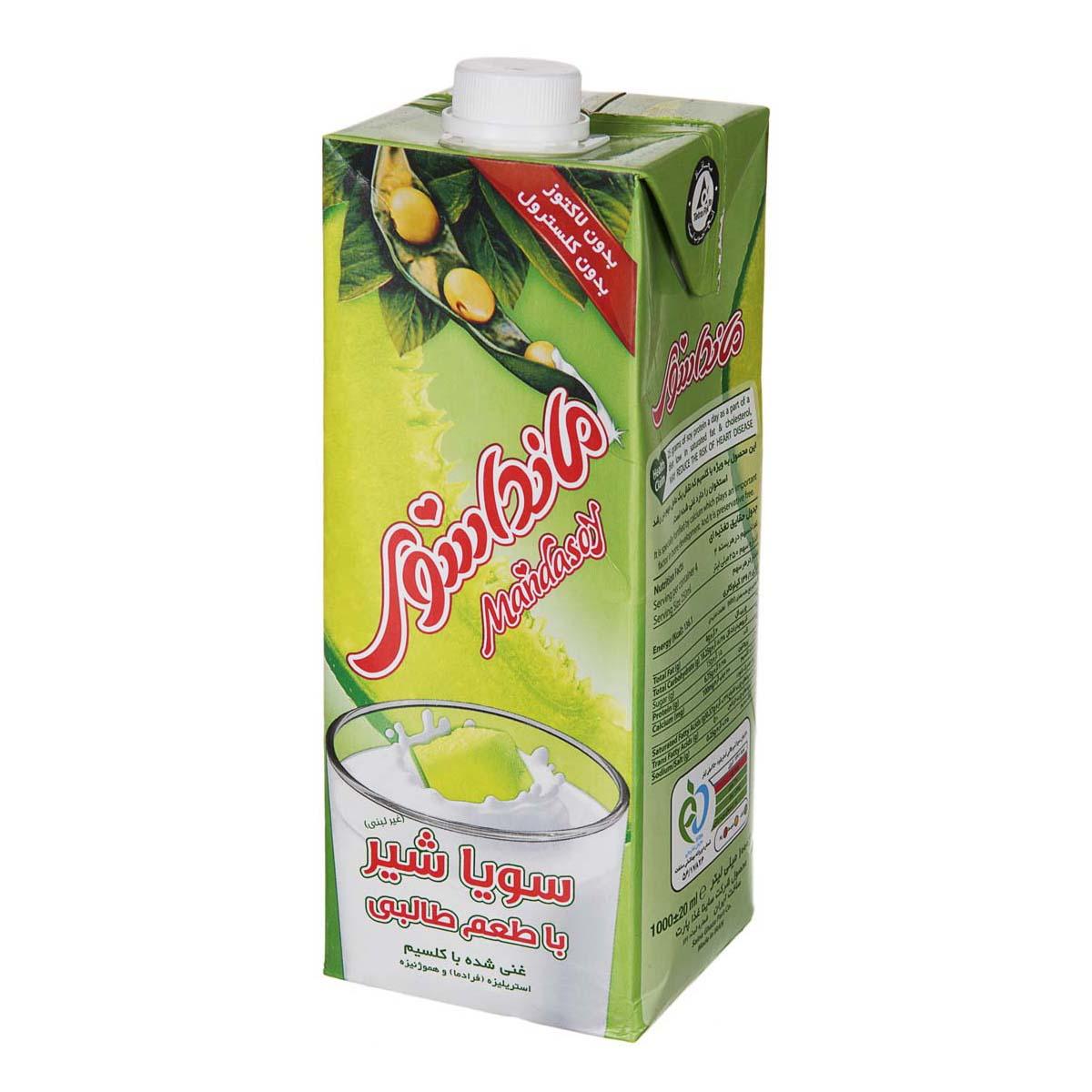 سویا شیر با طعم طالبی مانداسوی حجم ۲۰۰ میلی لیتر
