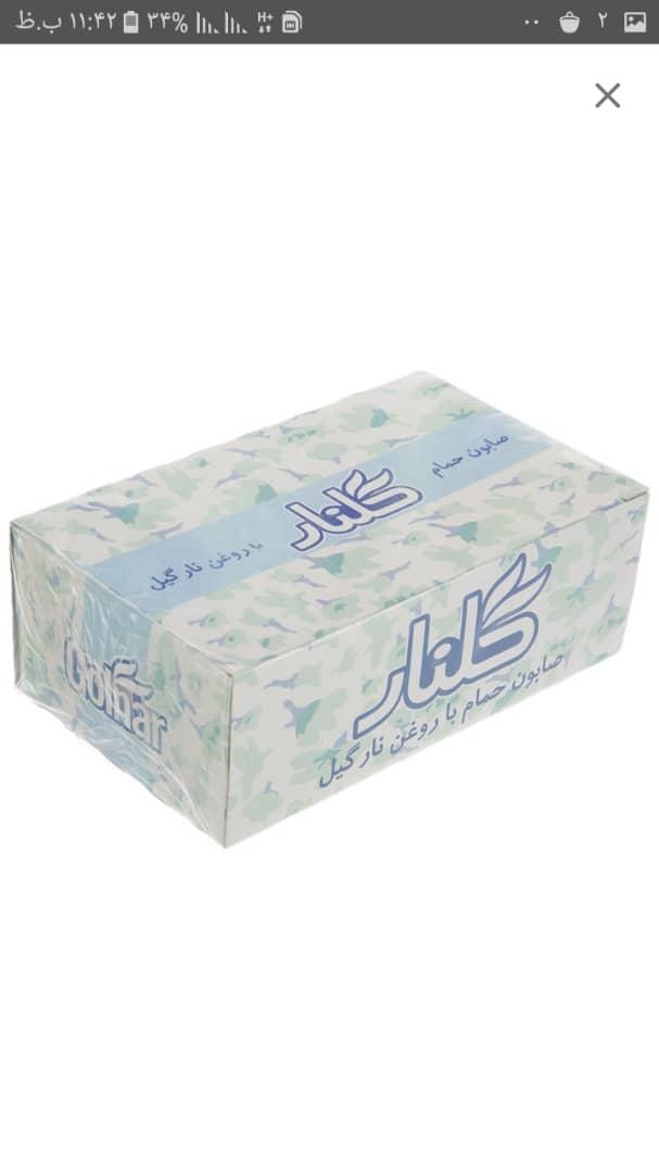 صابون گلنار با روغن نارگیل – ۶ عددی