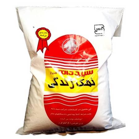 نمک سپید دانه زبر وزن ۵ کیلوگرم