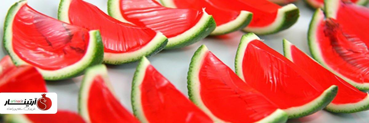 دسر هندوانه با پودر ژله هندوانه فرمند