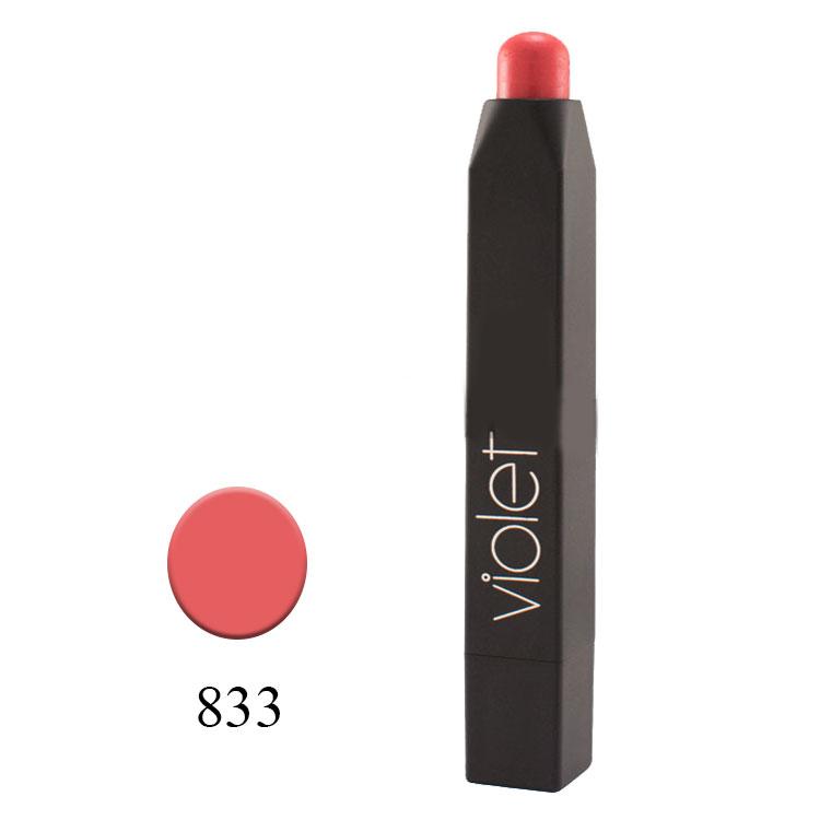 رژلب مدادی ویولت مدل VELVET MATTE شماره ۸۳۳