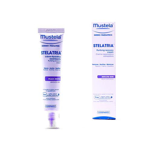 کرم ترمیم کننده پوست استلاتریا موستلا MUSTELA Stelatria Purifying Recovery Cream حجم ۴۰ میلی لیتر