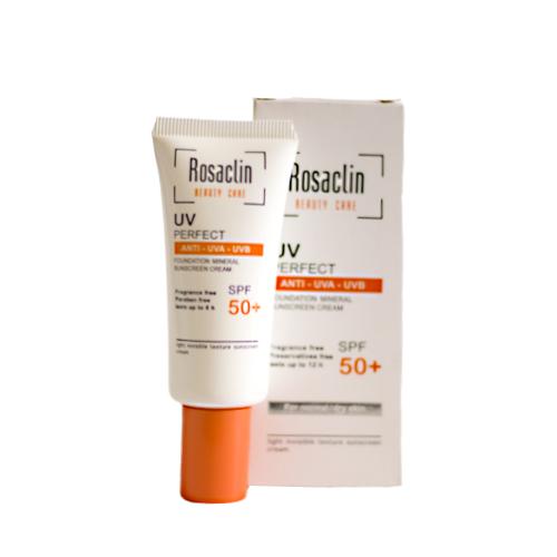 کرم ضد آفتاب بی رنگ پوست نرمال و خشک SPF 50 رزاکلین