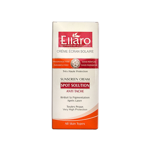 کرم ضد آفتاب و ضد لک اسپات سولوشن انواع پوست SPF 50 الارو