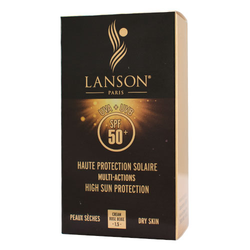 کرم ضد آفتاب پوست خشک SPF 50 لانسون بژ صورتی
