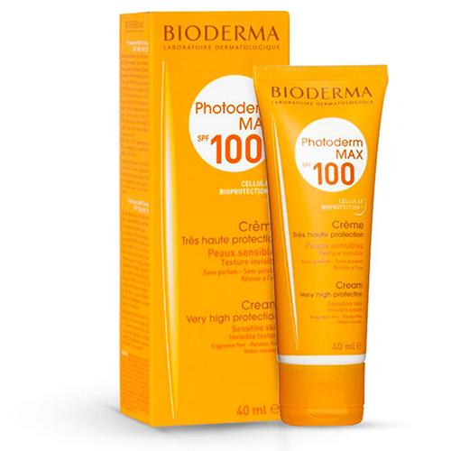 کرم ضد آفتاب فتودرم مکس SPF 100 پوست نرمال و حساس بی رنگ بایودرما حجم ۴۰ میلی لیتر