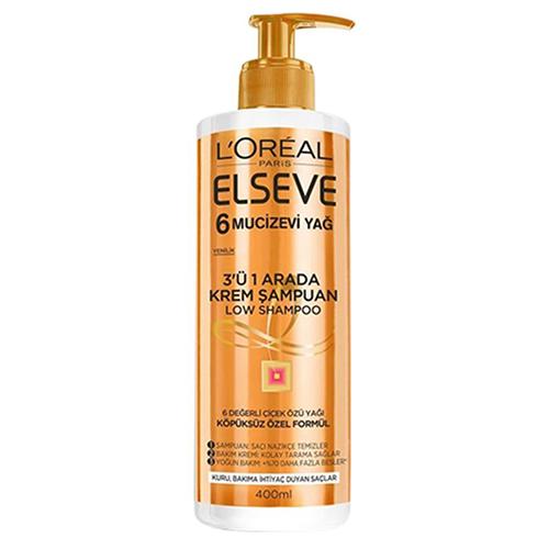 شامپو فاقد سولفات موهای خشک اکسترا اوردینری طلایی السیو لورآل حجم ۴۰۰ میلی لیتر