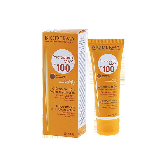 کرم ضد آفتاب فتودرم مکس SPF 100 پوست حساس بژ تیره بایودرما حجم ۴۰ میلی لیتر