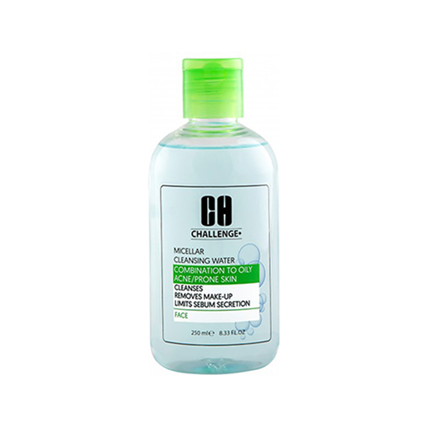 پاک کننده آرایش میسلار واتر پوست مختلط و چرب چلنج رنگ سبز حجم 250 میلی لیتر