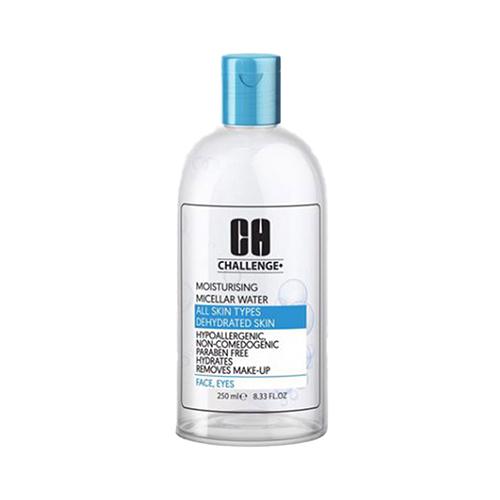 پاک کننده آرایش میسلار واتر آبرسان پوست خشک و دهیدراته چلنج رنگ آبی حجم 250 میلی لیتر