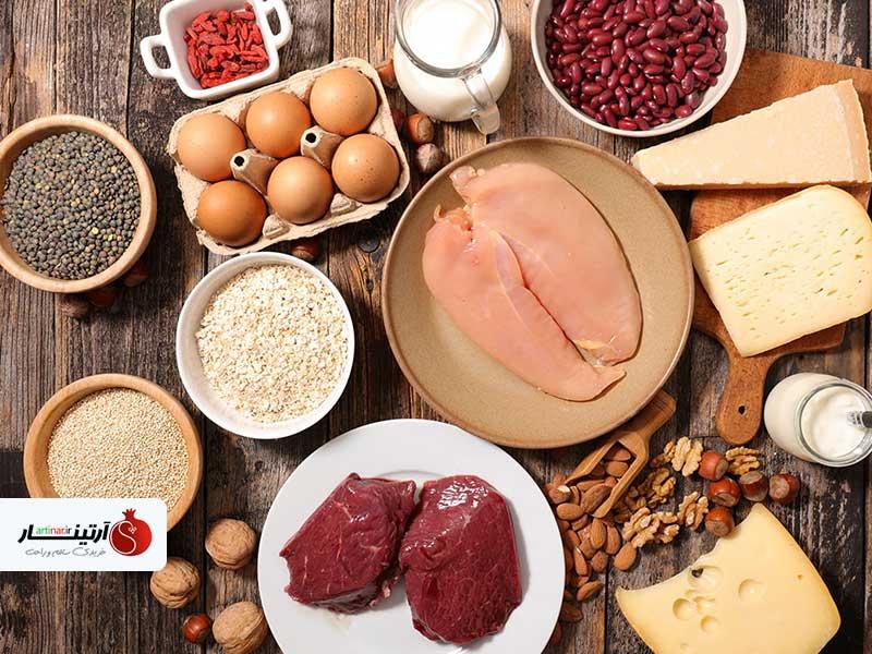 خوراکی های حاوی پروتئین