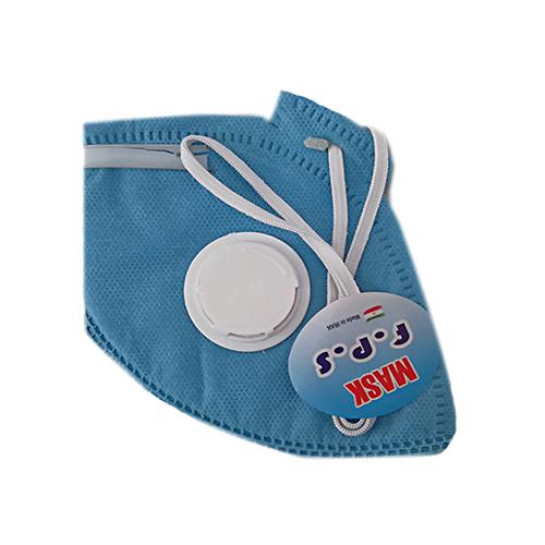 ماسک پنج لایه سوپاپ دار N95 آبی بسته ۱۵ عددی
