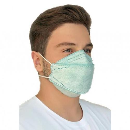 ماسک سه بعدی طرح کره ای KN95 سبز کش پشت سری بسته ۲۰ عددی
