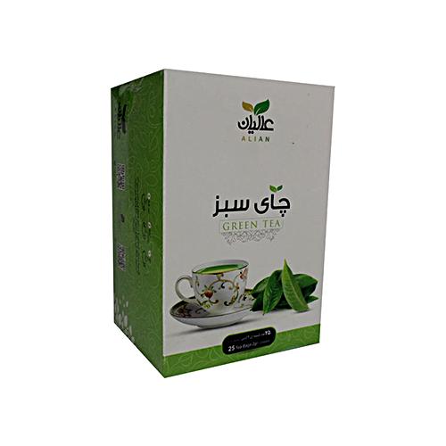 چای سبز عالیان بسته ۲۵عددی