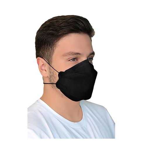 ماسک سه بعدی طرح کره ای KN95 مشکی کش پشت سری بسته ۲۰ عددی