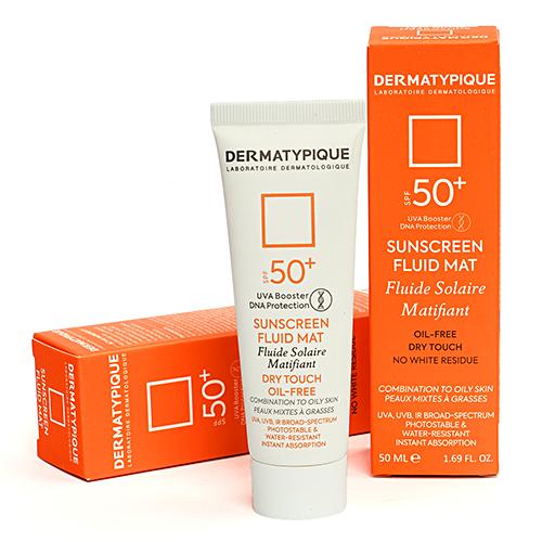 ضد آفتاب بی رنگ فاقد چربی SPF 50 درماتیپیک حجم 50 میلی لیتر