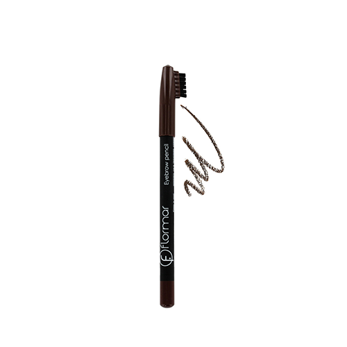 مدادابرو برس دار قهوه ای تیره فلورمار شماره ۴۰۲