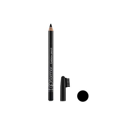 مداد ابرو برس دار مشکی فلورمار شماره ۴۰۴