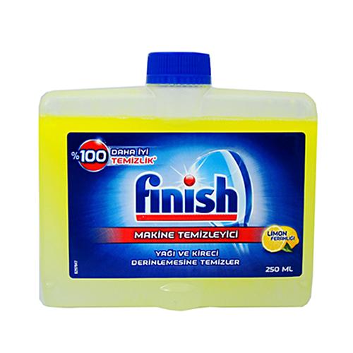 مایع جرم گیر ترکیه ای ماشین ظرفشویی با رایحه لیمو فینیش finish حجم ۲۵۰ میلی لیتر