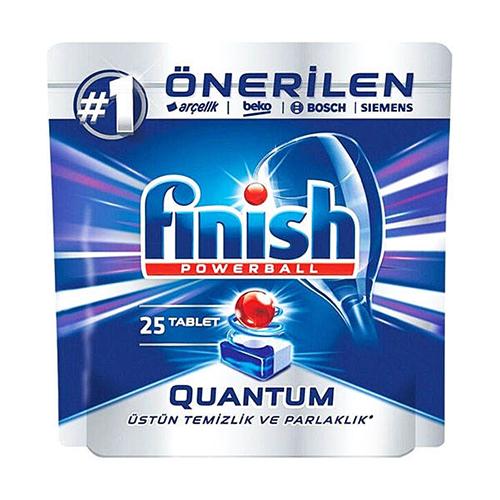 قرص ماشین ظرفشویی کوانتوم فینیش finish بسته ۲۵ عددی