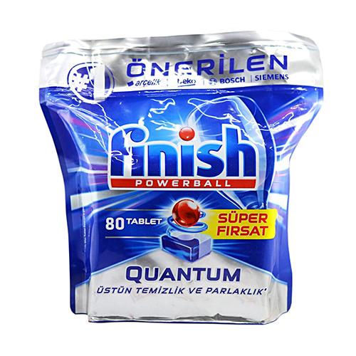 قرص ماشین ظرفشویی کوانتوم فینیش finish بسته ۸۰ عددی