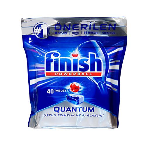 قرص ماشین ظرفشویی کوانتوم فینیش finish بسته ۴۰ عددی