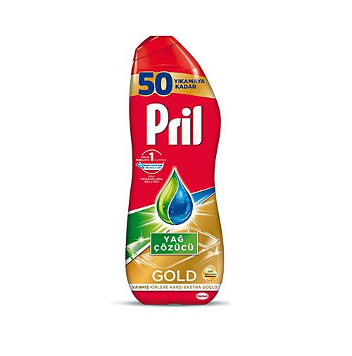 ژل ماشین ظرفشویی مدل GOLD YAG COZUCU پریل Pril حجم 900 میلی لیتر
