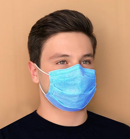 ماسک سه لایه آبی بسته ۱۵ عددی