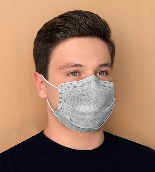 ماسک سه لایه طوسی بسته ۵۰ عددی
