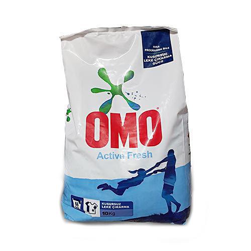 پودر ماشین لباسشویی مدل Active Fresh امو OMO درجه یک  وزن ۱۰ کیلو گرم