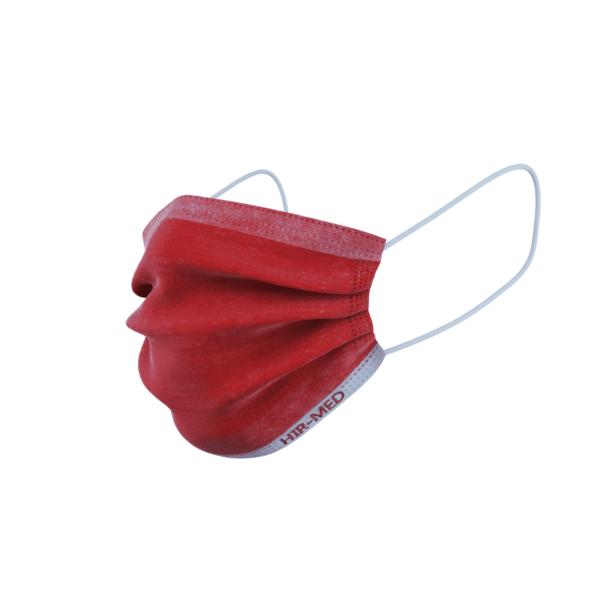 ماسک ۳ لایه رنگ قرمز بسته ی ۱۵ عددی سایز بانوان