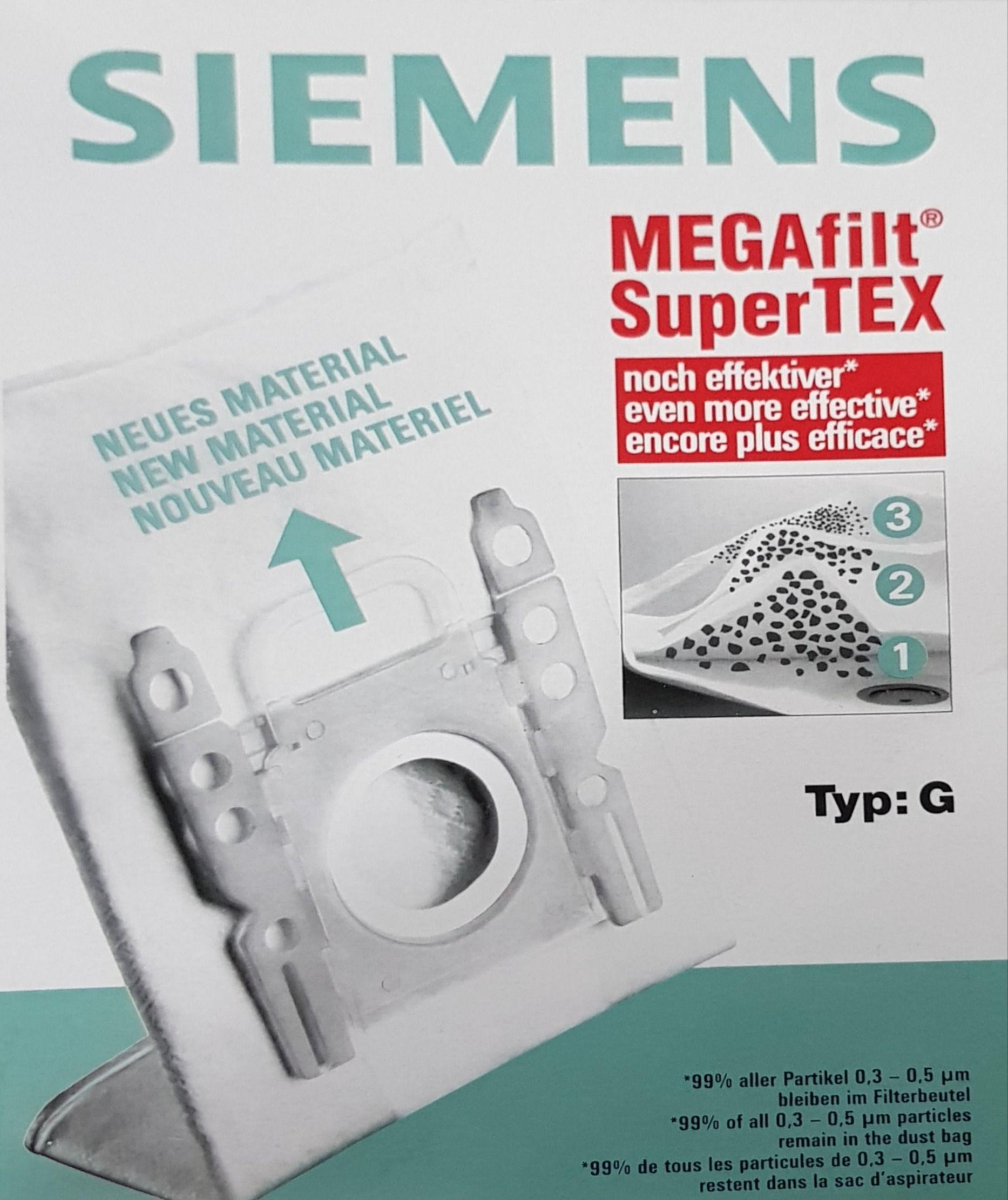 پاکت جاروبرقی Megafilt Super Tex تایپ G درجه یک ۵ تایی