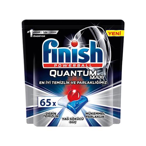 قرص ماشین ظرفشویی مدل QUANTUM MAX  فینیش finish بسته ۶۵ عددی