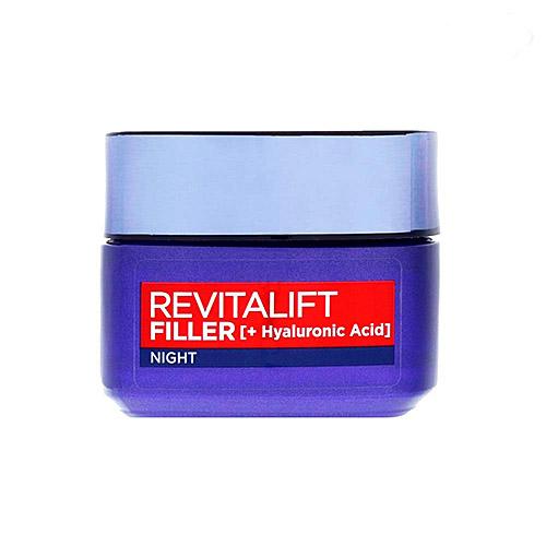 کرم فیلر هیالورونیک اسید ضد چروک شب مدل REVITALIFT FILLER لورآل حجم ۵۰ میلی لیتر