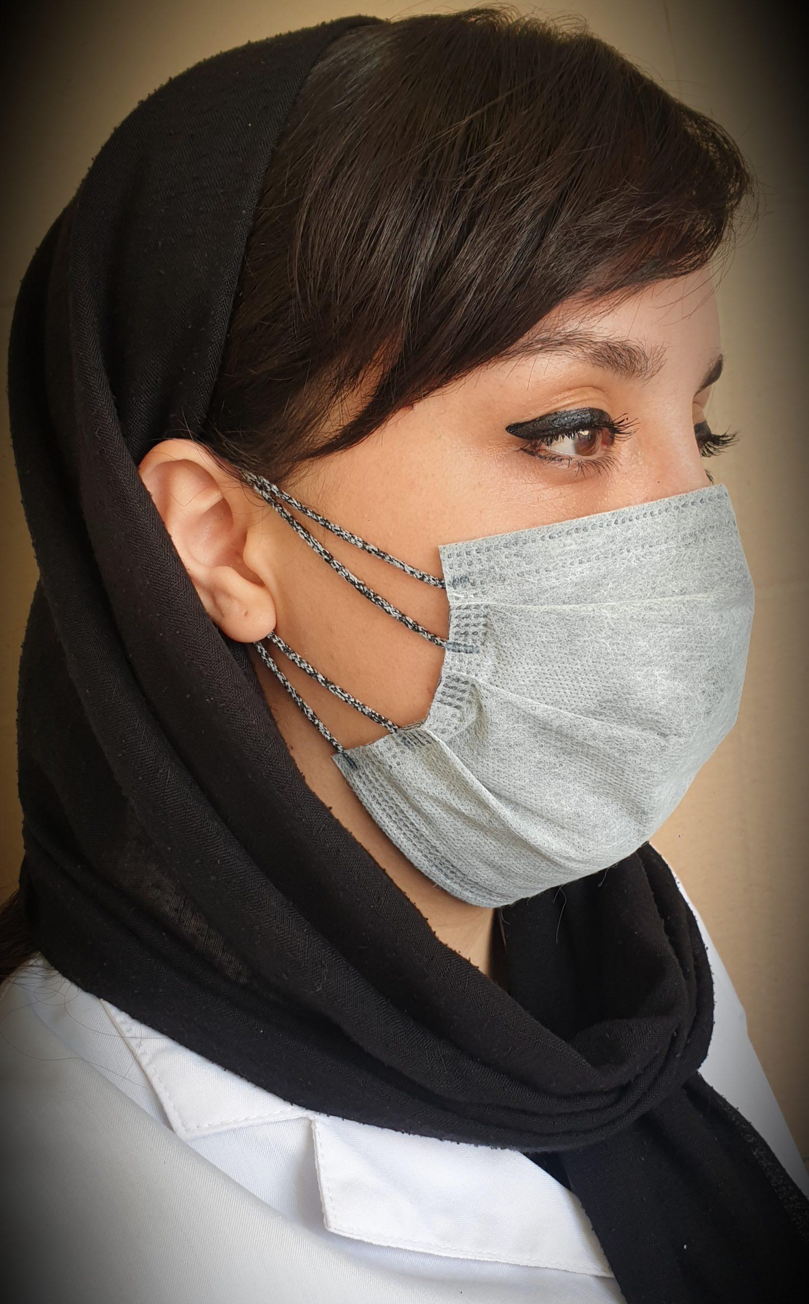 ماسک سه لایه ۴ کش (Super Face Mask) رنگ طوسی بسته ۱۵ عددی