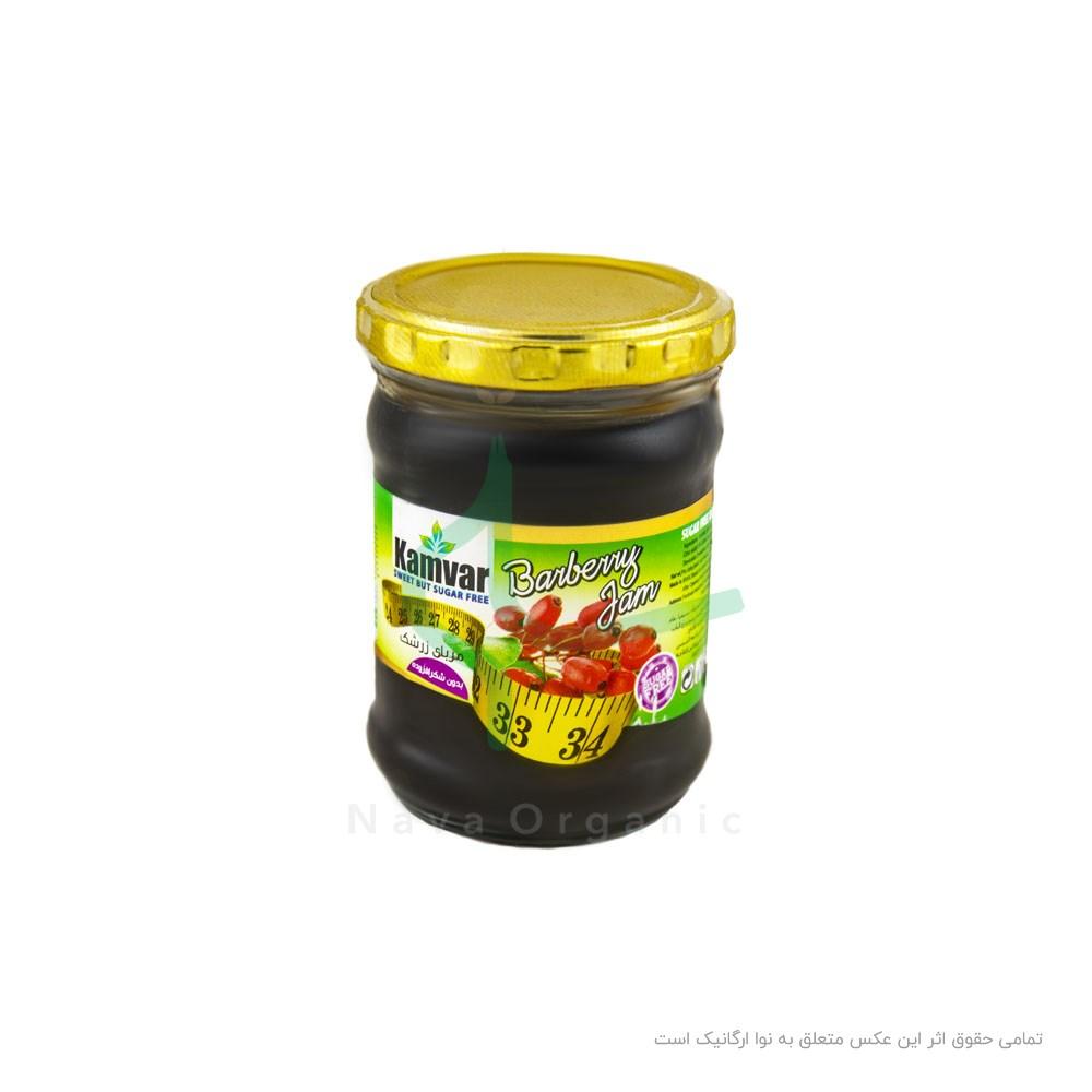مربای توت فرنگی بدون شکر کامور ۲۸۰ گرمی