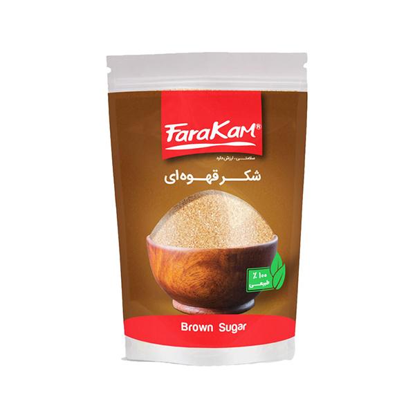 شکر قهوه ای زیپ دار فراکام ۵۰۰ گرمی