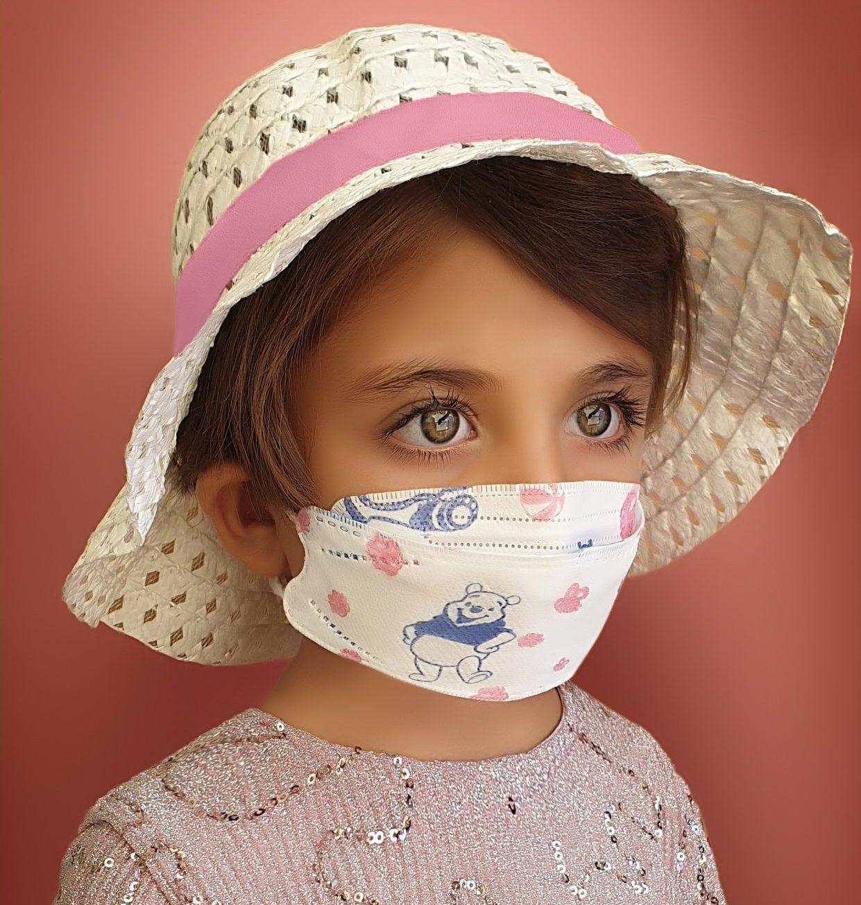 ماسک سه بعدی طرح کره ای طرح دار سایز کودک کش پشت گوش بسته ۴۵عددی