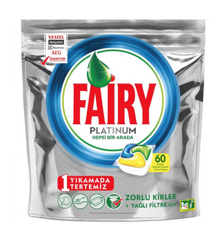 قرص ماشین ظرفشویی پلاتینیوم fairy فیری بسته ۶۰ عددی